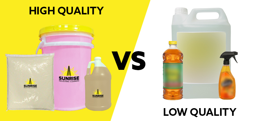 Low Quality Vs High Quality Industrial Cleaning Products